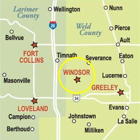 Windsor Common Self Storage Map